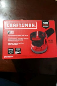 Craftsman sander cordless battery and charger not included.