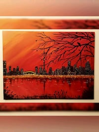 24x18 inches Toronto skyline painting  Richmond Hill, L4S
