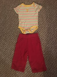 Girls outfit size 6 months