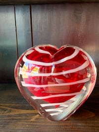 Glassware in the shape of a heart