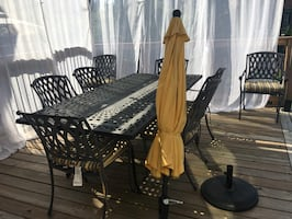 Outdoor dining set.