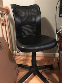 black leather office rolling chair Silver Spring, 20902