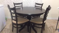 Round Eat-in Kitchen table with four chairs dining set Markham, L3P 0M9