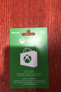 XBOX GIFT CARD (25) Selling for 15! Toronto, M2N 7K2