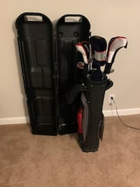 Acuity Voltage Golf Clubs, Aquity golf bag and travel case