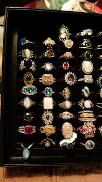 Costume Jewelry Gold, Silver, misc stones, scroll  1129 mi
