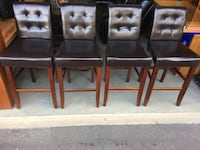 Bar Height Chairs (set of 4): sell to best offer by sat 10/12