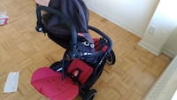 Baby's red and black travel system Toronto, M9R 3T6