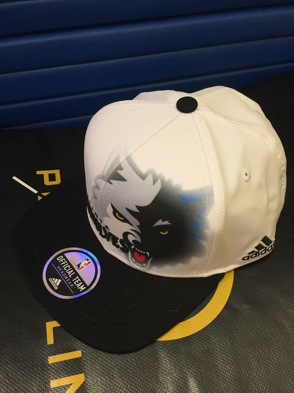 White and Black Timberwolves hat never worn too small $30.00