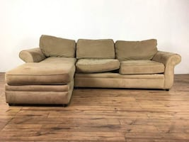 Pottery Barn Suede Upholstered Sectional Sofa (1013984)
