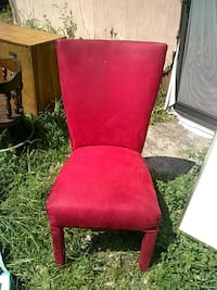 red and brown wooden chair Sarasota