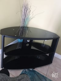 black wooden TV stand with mount Markham, L6B 0G6