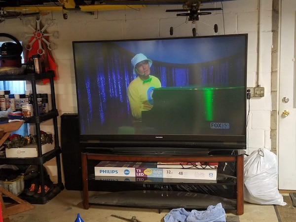 """bd0be9d6799c Used 75"""" TV with stand! 400 OBO for sale in Washington - letgo"""