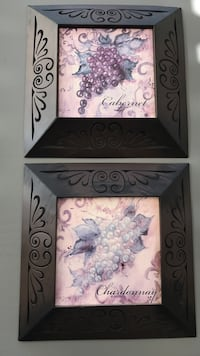 Framed wine decor