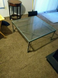 Heavy duty glass table 3ft square Waterford Township, 48328