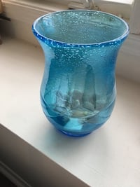 Blue glass beachy vase  Mississauga, L5N 7Z6