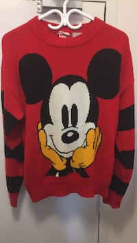 red and black Mickey Mouse print textile Toronto, M1K 2P6