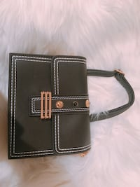 black and brown leather crossbody bag San Marcos, 92078