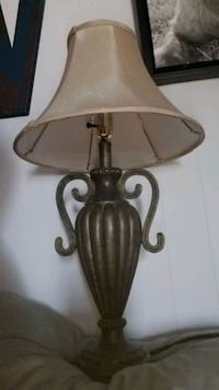 Lamp with shade (bulb not included).