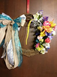 blue, yellow, and pink floral wreath Minden, 71055