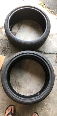 two Pirelli Pzero's 255/30ZR20 Tires , lots tire left, cleaning out the garage. Wayne, 19087