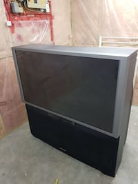 grey rear projection television