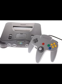 CLASSIC NINTENDO 64 COMPLETE GAMING SYSTEM .