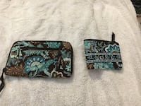 Vera Bradley Wallet and coin purse in java blue. Columbia, 21044