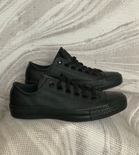 Black Leather Converse ALL STAR sz 7 Women sz 5 Men Washington, 20020