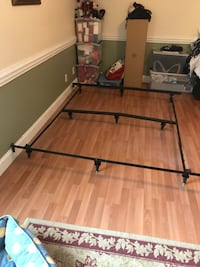 black and brown wooden bed frame Tucker, 30084