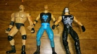 Goldberg, Sting and Kevin Nash action figures