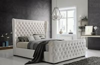 Bed queen size  2 colors ivory and grey Compton, 90221