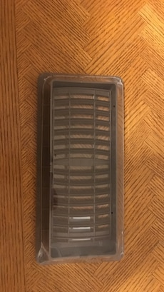 """Heating vent. Brown or white 4""""x10"""". 15 available"""