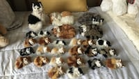 Sets of soft kitty figurines
