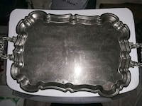 silver serving trays Charlotte