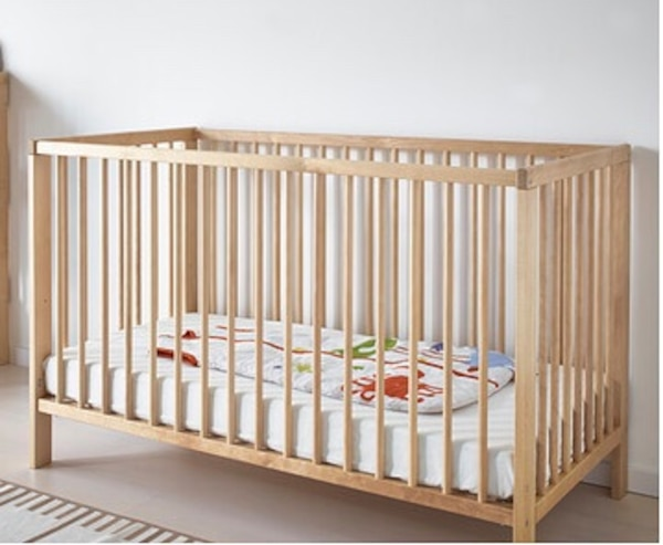 Ikea Gulliver Crib In Birch With Mattress