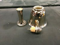 two brass-colored candle holders Toronto, M9W 5E8