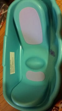 baby's teal and white bather 1962 km
