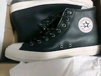MENS CONVERSE SIZE 10 NEW LEATHER BLACK Las Vegas, 89110