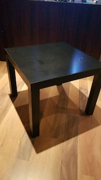 square black wooden side table