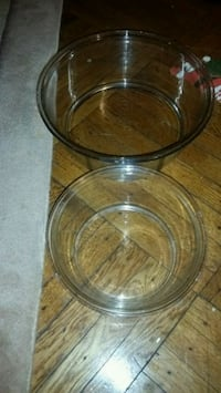 Pyrex, 2 bowls, 3 qts, 5 cups, made in USA Rutherford, 07070