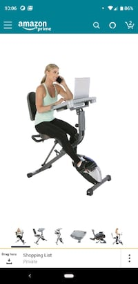 Exercise desk bike