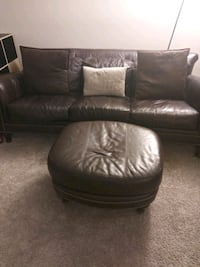 black leather sectional sofa with ottoman 24 km