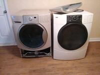 two white front-load clothes washer and dryer set Abilene, 79602