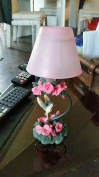 pink and white floral tealiggt Hamilton