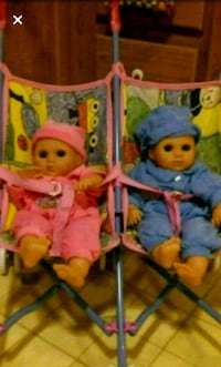 Collectors twin babies with double stroller