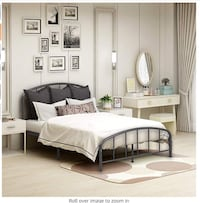 New**Metal Bed Frame Queen Size Bed $80, Bronze or