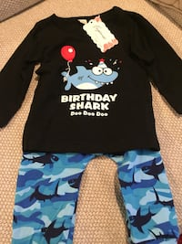 Birthday baby shark do do outfit