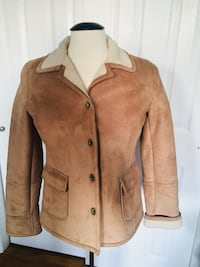 Brown button-up collared winter jacket South Whitehall, 18104