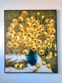 Yellow and red petaled flowers painting Brampton, L6V